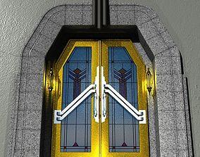 3D PBR Art deco theatre doorway