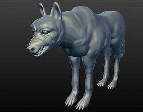 WOLF SCULPTED 3D
