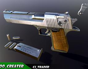 Pistol Desert Eagle Low-poly PBR 3D model game-ready