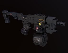 Sci-Fi Weapon Cyber Riffle 3D asset