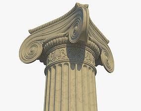 3D model Ionic column corner c
