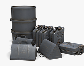 game-ready WW2 Liquid Storage Assets 02