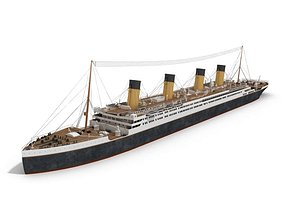 3D Titanic Like Passenger Ship
