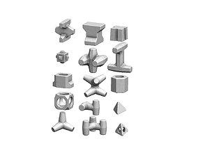 Types of anti coastal erosion concrete 3D print model 1