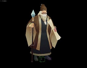3D model Wizard and mage