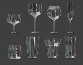 Glass Set - Wine glass and water glass 3D asset
