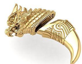 09 Dragon on Tiger nails Pendant 3D printable model