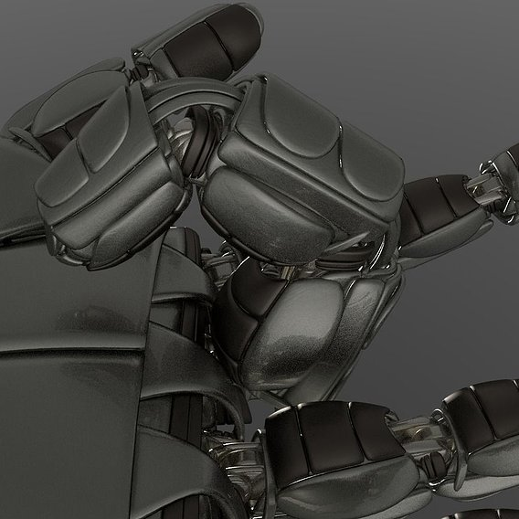 Robot Finger Version 2 Rigged and Animated