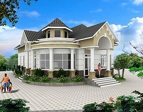 3D model animated modern house design