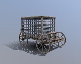 Medieval Prison Cart Prop 3D model