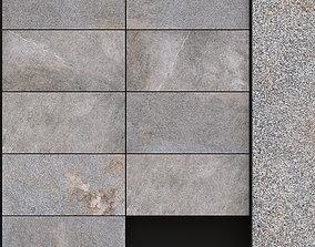 3D model ABK Solutions Rock Grey 300x600 Set 2