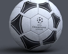 soccer ball flag 3D model realtime