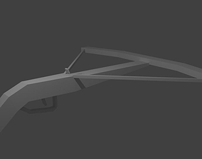 3D model animated Crossbow