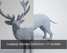 Lowpoly animals collection 3D
