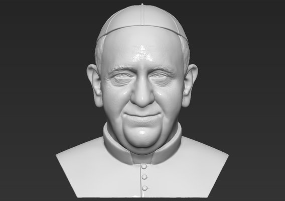 Pope Francis bust for 3D printing