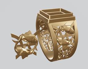 Pisces zodiac sign 3D print model