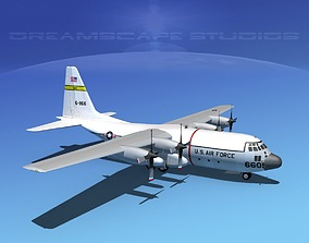 3D model Lockheed C-130 Hercules USAF 2