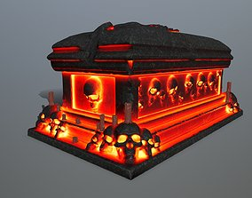 3D asset fire tomb