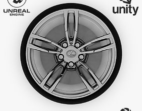 3D model Wheel Steel-Chrome Alloy Rim Lexus 19 inch 3