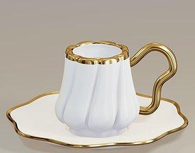 Turkish Porcelain Coffee Cup 3D model