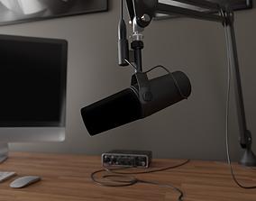SM7b Microphone 3D model