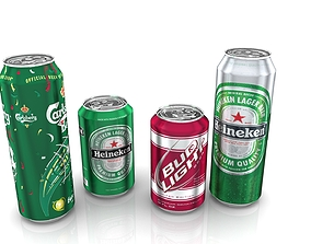 Beer cans 3D model