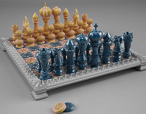 3D print model chess double set