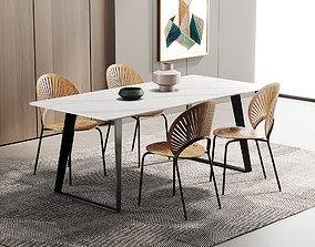 3D seat Dining Room Interior 324