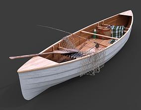 3D model fishingboat - dip net
