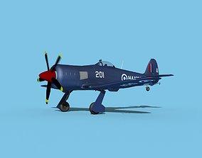 Hawker Sea Fury MKII V06 RN 3D