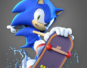 fanart Sonic the Hedgehog 3D print model