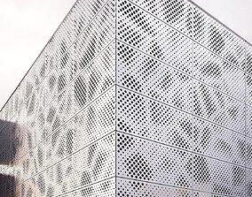 perforated metal panel N2 3D model