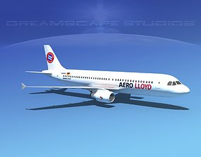 3D model Airbus A320 LP Aero Lloyd