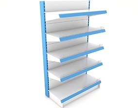 Supermarket Single Shelf Module 3D model