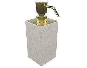 Soap Dispenser Square 3D
