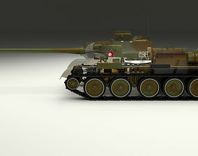 3D model SU 100 Interior-Engine Bay Full Camo