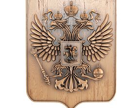 Coat of arms of Russia 3D model