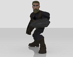 Captain America Infinity war Disney Infinity 3D model
