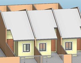 Residencia geminada - small house REVIT NATICE 3D model