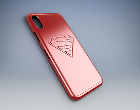 3D print model Iphone X case With Superman Logo