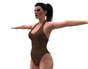 women swimsuit louis vuitton 3D model