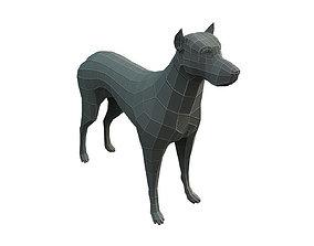 3D asset Low Poly Base Mesh Dog