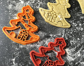 Christmas tree cookie cutter 3d print model house