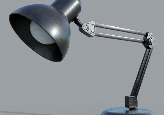 Office TableLamp Low-poly 3D model