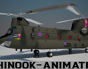 Royal Air force Chinook CH 47 3D model