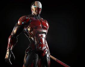 3D model Cybernetic Warrior PBR