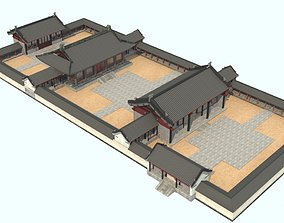 oriental Chinese courtyard house 3D model