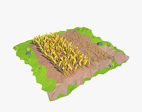 3D asset Cartoon field