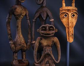 3D African Figures