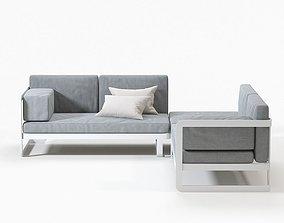 Pontoon Outdoor Sofa 3D